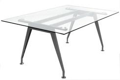 6' Glass Table Desk