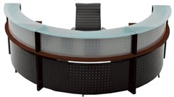 180 Degree Glass Top Reception Desk