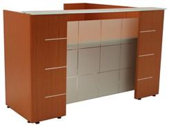Glass Top & Front Reception Desk
