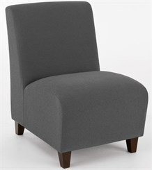 Siena Armless Guest Chair in Upgrade Fabric or Healthcare Vinyl