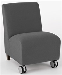 Armless Guest Chair w/ Casters in Upgrade Fabric or Healthcare Vinyl