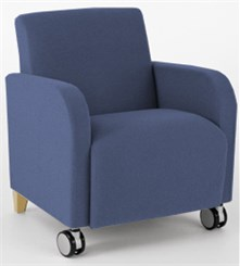 Guest Chair w/ Casters in Standard Fabric or Vinyl