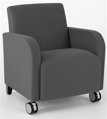 Siena Guest Chair w/ Casters in Upgrade Fabric or Healthcare Vinyl