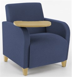 Guest Chair w/ Swivel Tablet in Standard Fabric or Vinyl