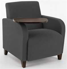 Guest Chair w/ Swivel Tablet in Upgrade Fabric or Healthcare Vinyl