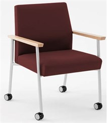 Mystic 400 lb Capacity Guest Chair w/ Caster in Standard Fabric or Vinyl