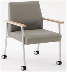 400 lb Capacity Guest Chair w/ Caster in Upgrade Fabric or Healthcare Vinyl