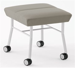 Mystic 1 Seat Bench w/ Casters in Upgrade Fabric or Healthcare Vinyl