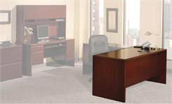 Harvest Cherry Office Furniture Collection - Double Pedestal Desk