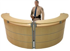 Half Round Wood Reception Desk