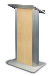 Hardrock Maple with Satin Anodized Aluminum Lectern
