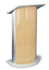 Hardrock Maple with Satin Anodized Aluminum Curved Lectern