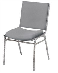 Heavy Duty Upholstered Armless Stack Chair