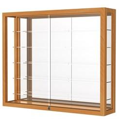 Heirloom Five Shelf Wall Mounted Display Case