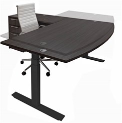 Electric Lift Height Adjustable L-Shaped Desks