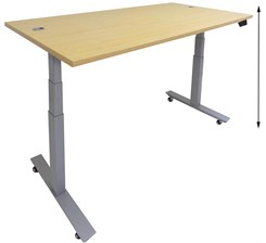 "72""W x 36""D  Mobile Electric Lift Height Adjustable Table"