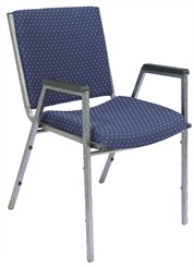 Heavy-Duty Upholstered Stack Chair w/Arms