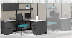 Hon Initiate Office Panel Series - L-Shaped Cubicle
