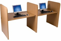 """H"" Study Carrel - Starter Freestanding Carrel"