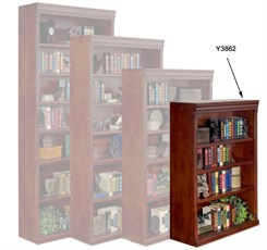 Huntington Cherry Bookcase Collection - 48&quot; High Cherry Bookcase