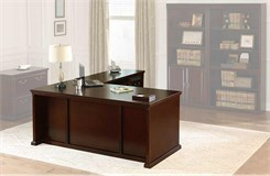 "Huntington Club Cherry Series - 68-1/4""W Executive Desk"