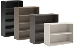 In Stock Steel Bookcases in 4 Colors!