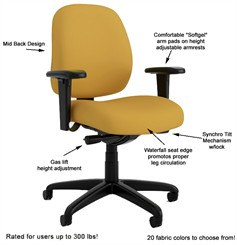 Intensive-Use Mid Back Task Chair