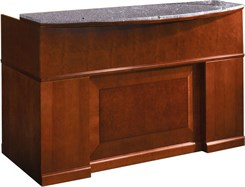 Cherry Reception Desk w/ GraniteTransaction Counter