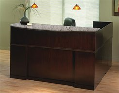 Espresso Reception L-Desk w/ Granite Transaction Counter