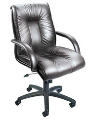Italian Leather Conference Chair