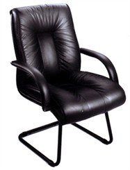Italian Leather Guest Chair