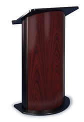 Jewel Mahogany with Black Anodized Aluminum Curved Lectern