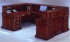 Keswick U-Shaped Reception Desk w/Right Bridge