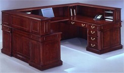 Keswick U-Shaped Reception Desk w/Left Bridge