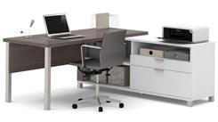 Pro Linear Metal Leg L-Desk