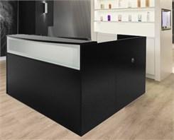Black L-Shape Salon Desk