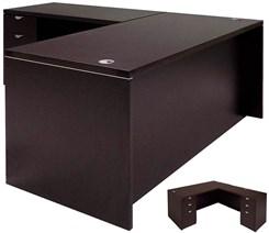 L-Shaped Executive Desk w/6 Drawers