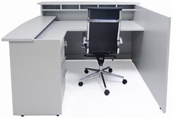 Custom Multi-Level L-Reception Desk w/Left Side Low Counter
