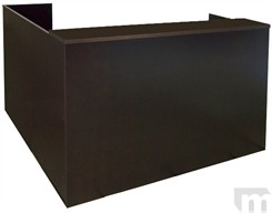 Espresso Veneer L-Shaped Reception Desk