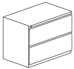 Lateral File for Credenza/Return