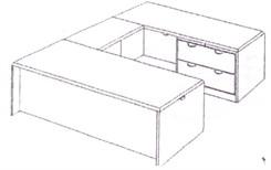 Lateral File U-Desk