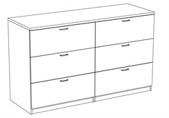 42�H Lateral File Credenza