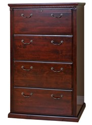 Cherry Four-Drawer Lateral File