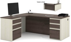 L-Shaped Desk with 2 Box/Box/File Sets