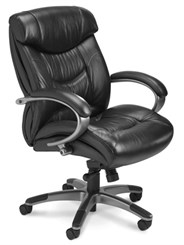 Infiniti Mid-Back Black Leather Office Chair