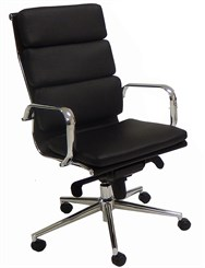 Leather Soft Pad High Back Chair