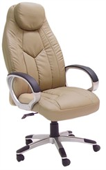 UltraHigh Back Chair in Cream Leather
