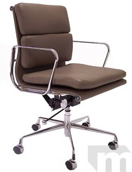 Leather Soft Pad Management/Conference Chair in Taupe