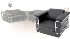 Cambridge Leather Reception Seating - Reception Chair