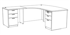 "Transitions 72"" Custom L-Shape Desk, Left Return"